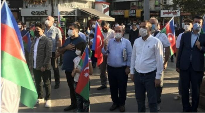 Konyada Azərbaycana dəstək aksiyası keçirilib