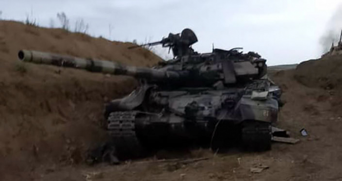 Armenian tanks come under their own artillery fire