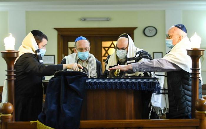 Ashkenazi Jews living in Azerbaijan prayed for victory -  PHOTOS