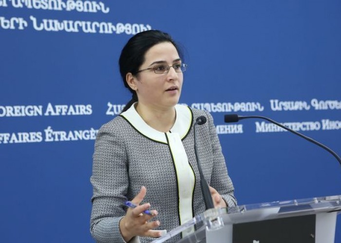 Armenian FM spokeswoman: No meeting planned with Jeyhun Bayramov