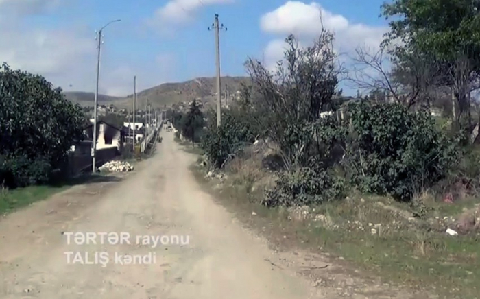 Azerbaijan releases  video footage  of Talish village liberated from occupation