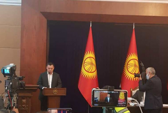 Sadır Japarov Qırğızıstanın yeni Baş Naziri seçilib