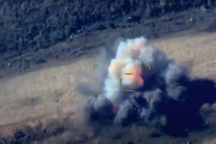 Azerbaijani army destroys Armenia's armored vehicle for ceasefire violation -  VIDEO