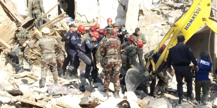 Ministry of Emergency Situations updates information on latest situation in Ganja - PHOTOS