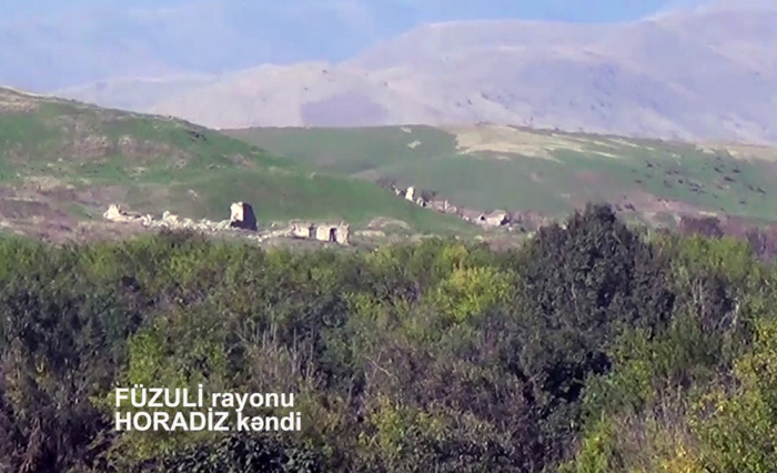 Azerbaijan releases   video footage   of Horadiz village liberated from occupation