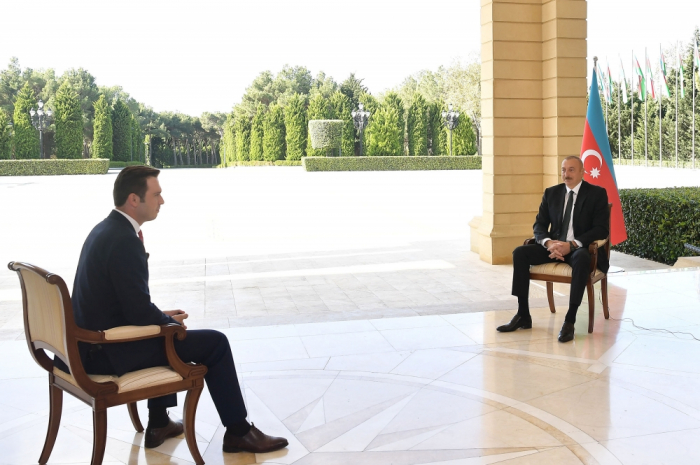 President Ilham Aliyev interviewed by Turkish Haber Global TV channel - VIDEO