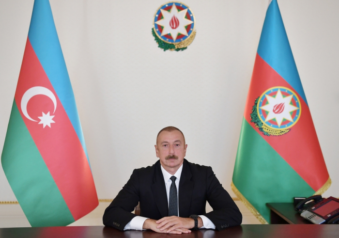 Azerbaijani president's video message presented at opening ceremony of 71st IAC 2020