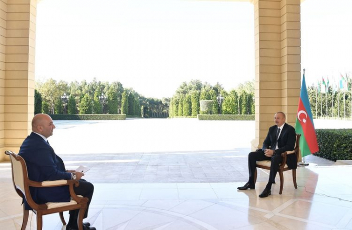 President Ilham Aliyev interviewed by Turkish Haber Turk TV channel