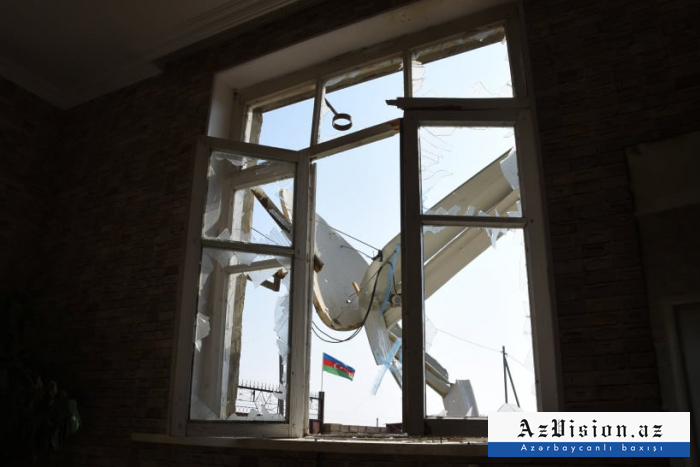 In photos:   Armenian barbarism, house where 5 Azerbaijani civilians killed