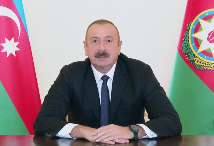 """""""Ich bin eine glückliche Person, diese Nachrichten den Menschen in Aserbaidschan zu übermitteln""""-  Präsident Ilham Aliyev"""