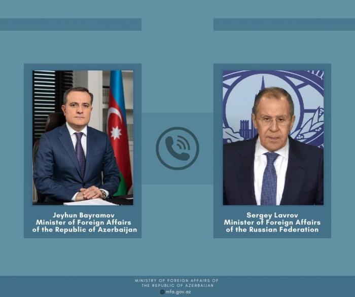 Djeyhoun Baïramov a eu une conversation téléphonique avec son homologue russe