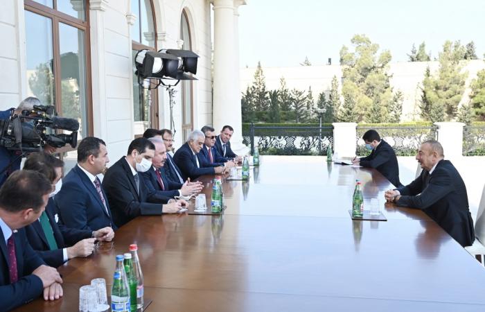 President Ilham Aliyev receives Turkish parliament speaker - UPDATED|VIDEO