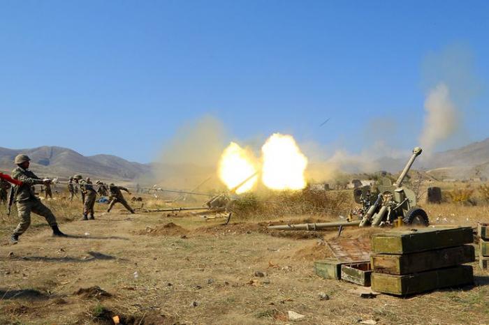 Azerbaijani army inflicts strikes on Armenia