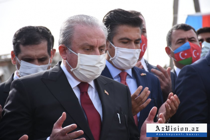 Turkish parliament speaker visits Ganja – PHOTO (UPDATED)