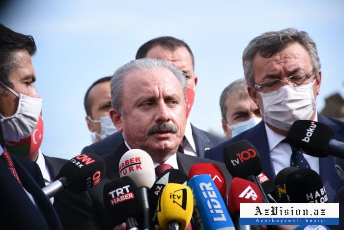 Armenia commits war crime by bombing civilians - Speaker of Turkish Parliament