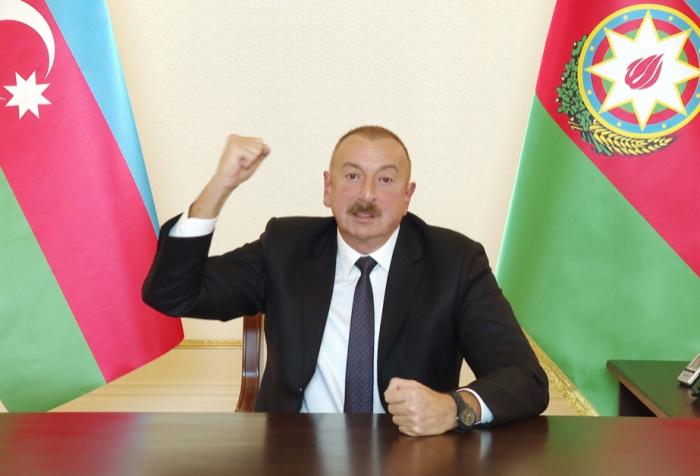 """Presidente  : """"El Ejército azerbaiyano gana nuevas victorias"""""""