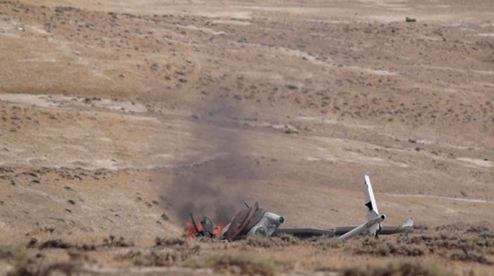 Otro VANT armenio destruido