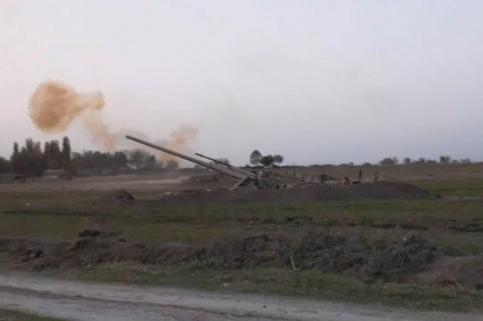 Azerbaijan's artillery strikes at night and day time -  VIDEO