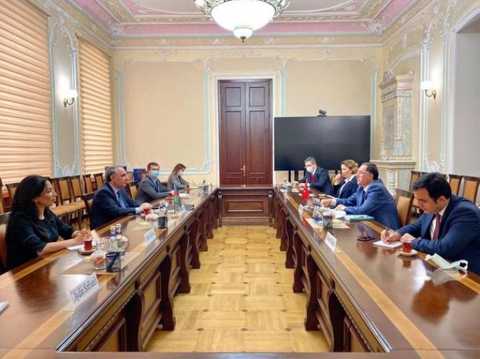 Kamran Aliyev trifft sich mit Leiter derOmbudsmann-Vereinigung der OIC