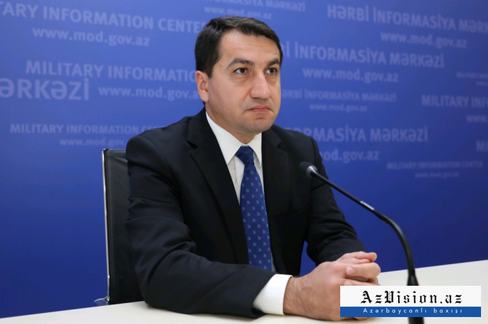 """""""Armenien setzt seine Kriegsverbrechen fort""""   - Hikmet Hajiyev"""