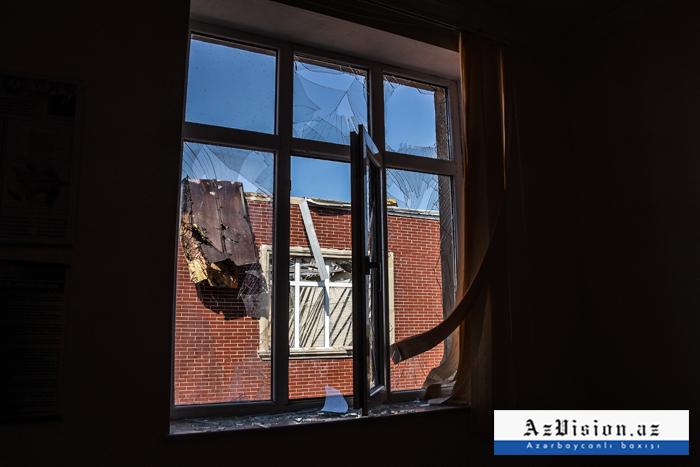 Armenische Vandalen feuerten auf dienach aserbaidschanischem Märtyrer benannte Schule