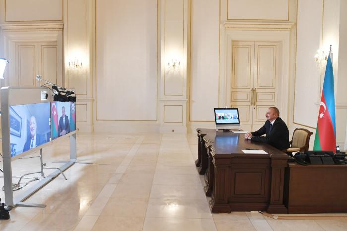 Präsident Ilham Aliyev gibt der französischen Zeitung Le Figaro ein Interview - VIDEO