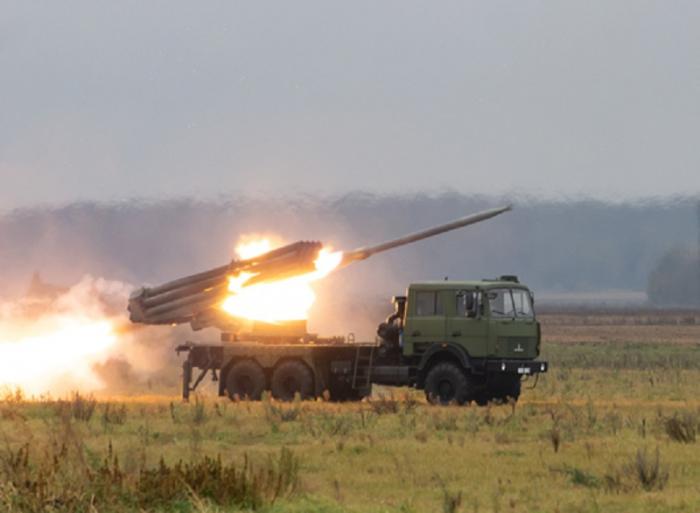 Armenians shell Azerbaijani civilian settlements using multiple launch rocket systems