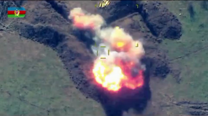 Azerbaijan destroys Armenia's combat equipment - VIDEO