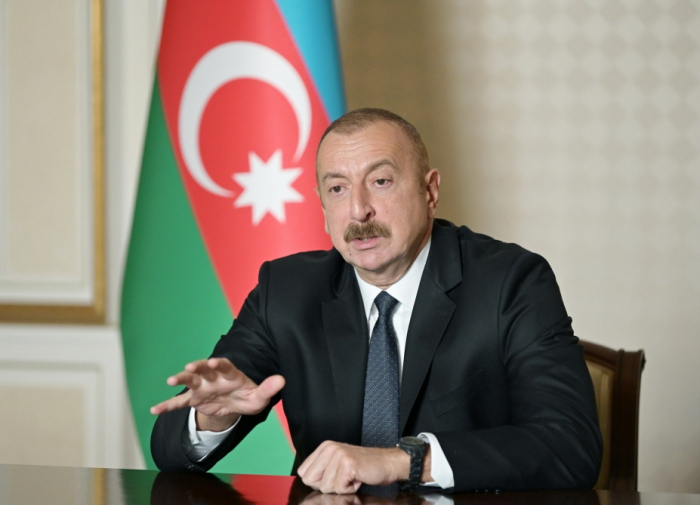 President Aliyev: It was Armenia who launched attack, we had to defend ourselves