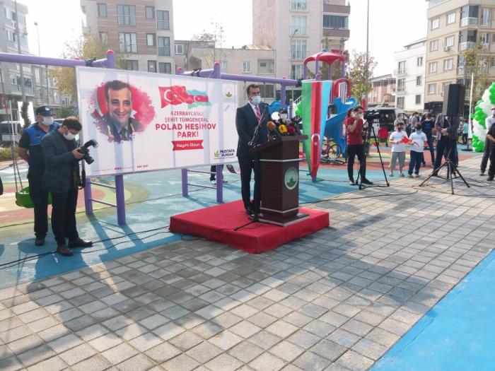 Türkiyədə Polad Həşimov adına park açıldı -  FOTO