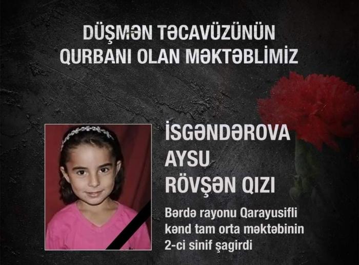 Another Azerbaijani schoolchild – victim of Armenia's military aggression
