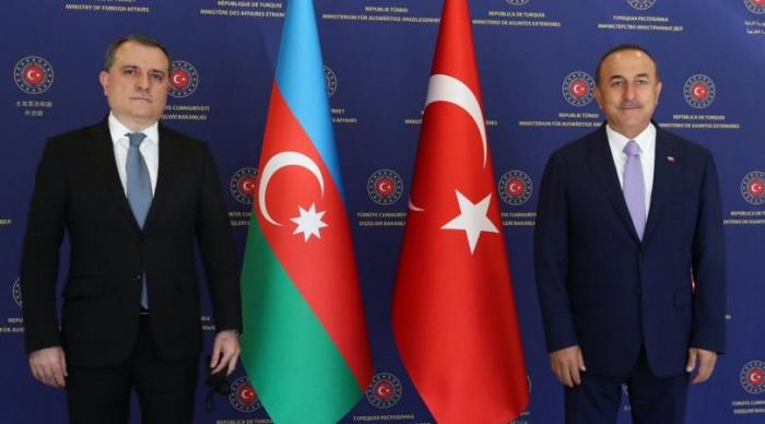 Azerbaijani and Turkish FMs discuss situation in Nagorno- Karabakh