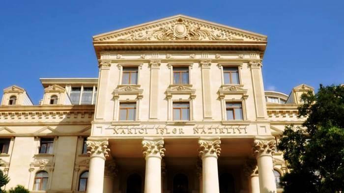 Leministère azerbaïdjanais des Affaires étrangères diffuse une communiqué sur l