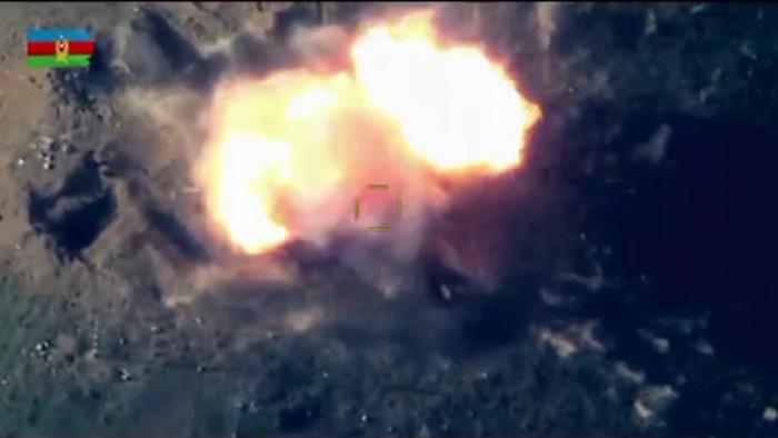 Azerbaijani army destroys Armenian troops