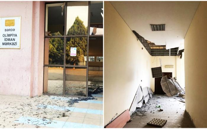 Le centre olympique de Berdé détruit par les forces armées arméniennes