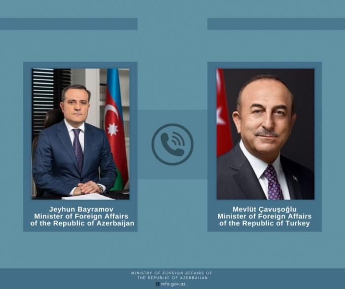 Ceyhun Bayramov və Çavuşoğlu telefonla danışıb