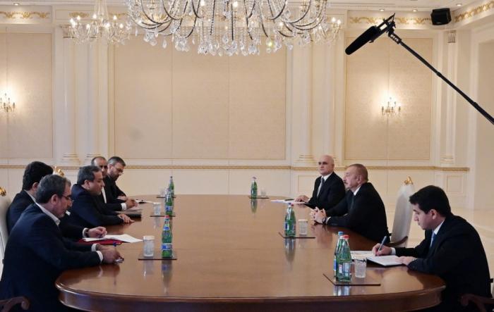 Ilham Aliyev reçoit une délégation iraniennemenée par Seyed Abbas Araqchi