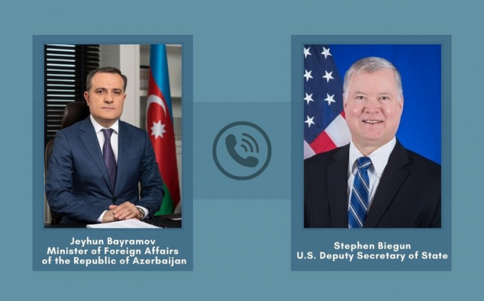 Djeyhoun Baïramov a euune conversation téléphonique avecle secrétaire d