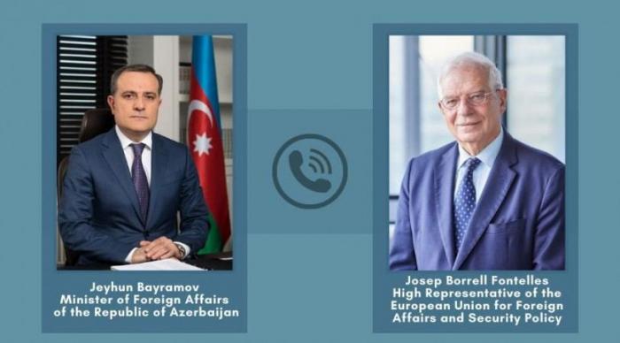 Azerbaijani FM informs EU's Borrell on Armenia's missile attacks on Barda