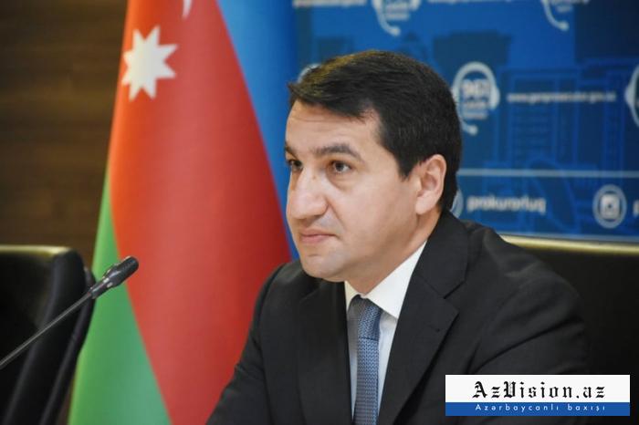 Hikmet Hadjiyev:   «Un tribunal militaire doit être organisé pour évaluer les crimes de l'Arménie»