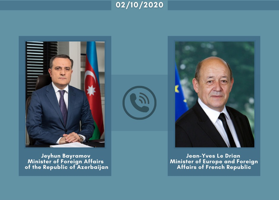Azerbaijani, French foreign ministers hold phone talk
