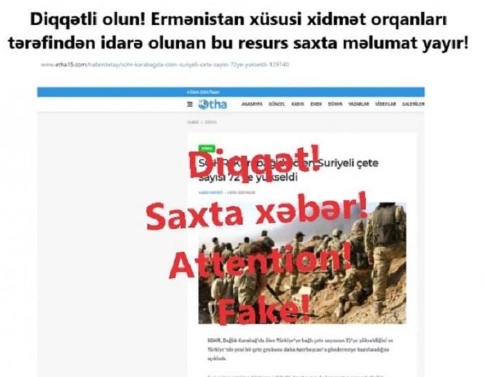 Düşmənin yaydığı yeni feyk xəbərlər -