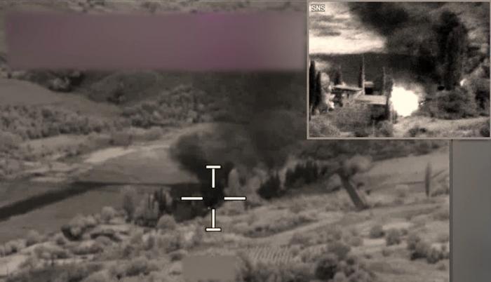 Drei armenische Artilleriegeschütze wurden zerstört