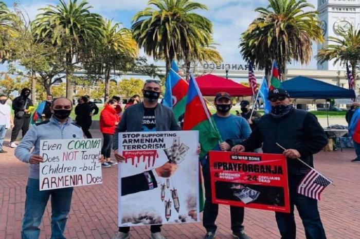 Protestan en California contra elterror armenio en Ganja