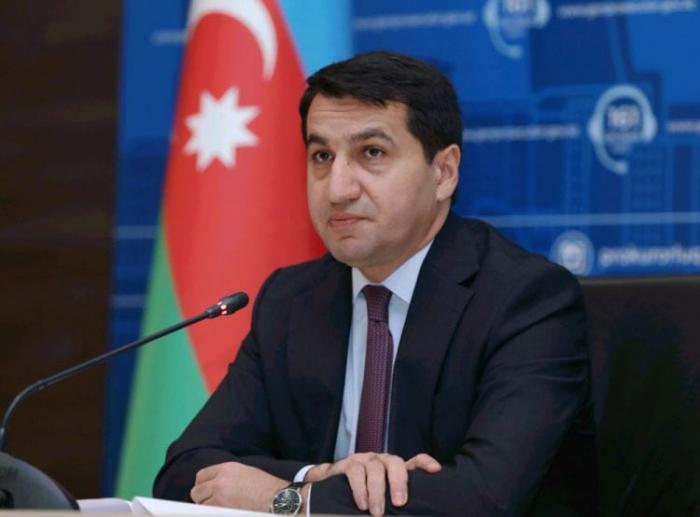 """Hikmət Hacıyev """"Al Jazeera"""" kanalına müsahibə verdi -  VİDEO"""