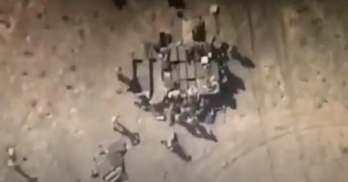 Düşmənin artilleriya batareyası məhv edildi -  VİDEO
