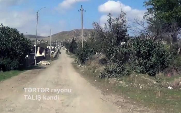 İşğaldan azad olunan Talış kəndi -   VİDEO