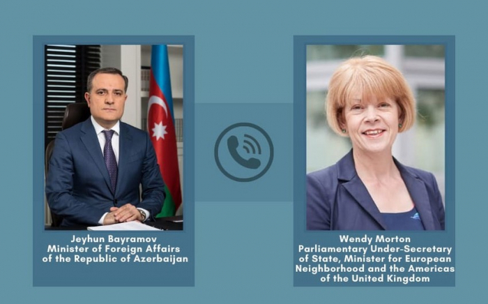 Azerbaijan FM had a telephone conversation with British minister