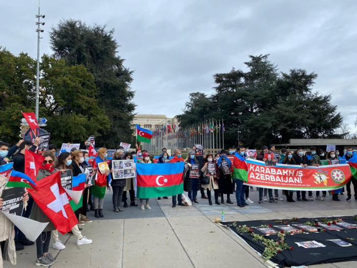 Protest rally against Armenian aggression held in Geneva