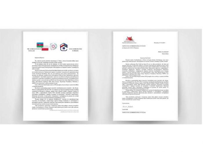 Poland Azerbaijanis protest against Polish MP